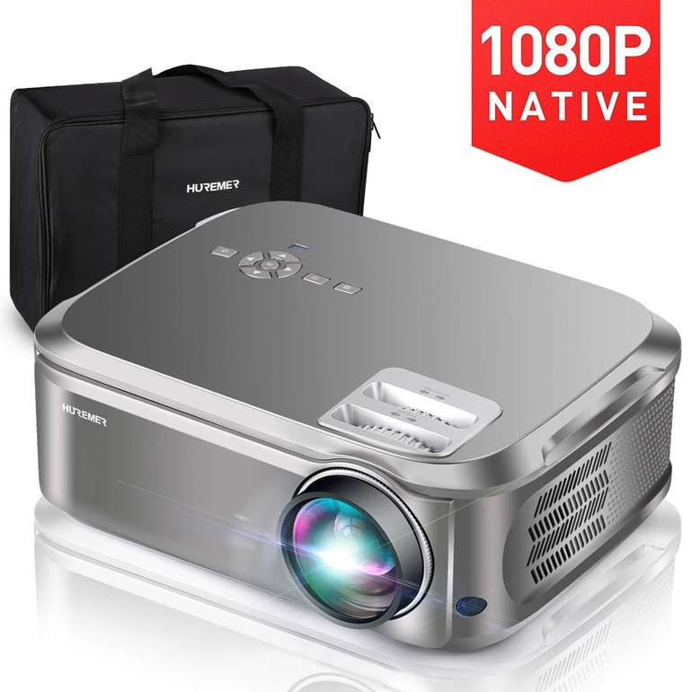 Huremer Beamer HM001 (6500 Lumen, 1080P) für 167,99€ inkl. Versand (statt 204€)