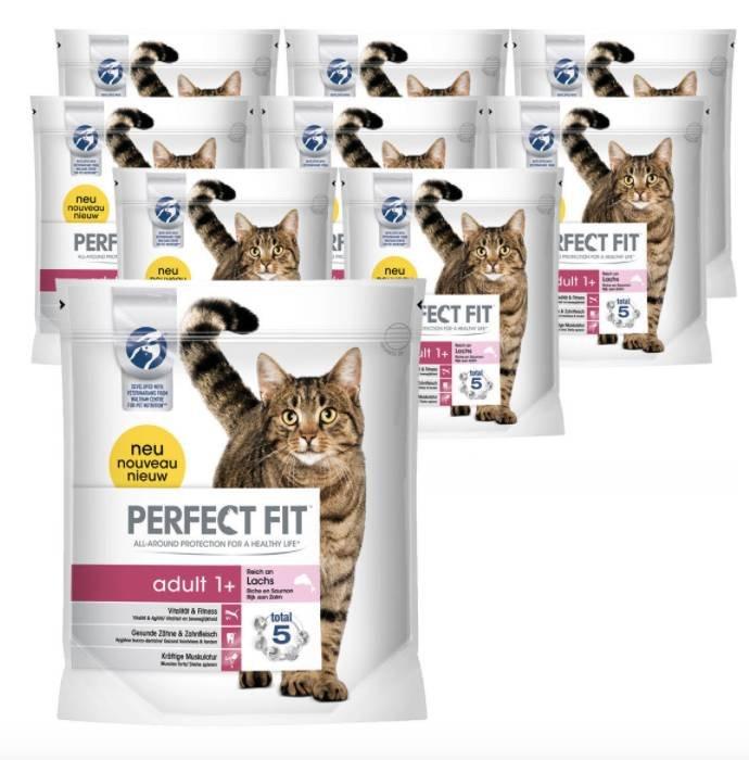 Perfect Fit Katzenfutter Trockenfutter 9 Beutel mit je 1,4 kg für 29,99€