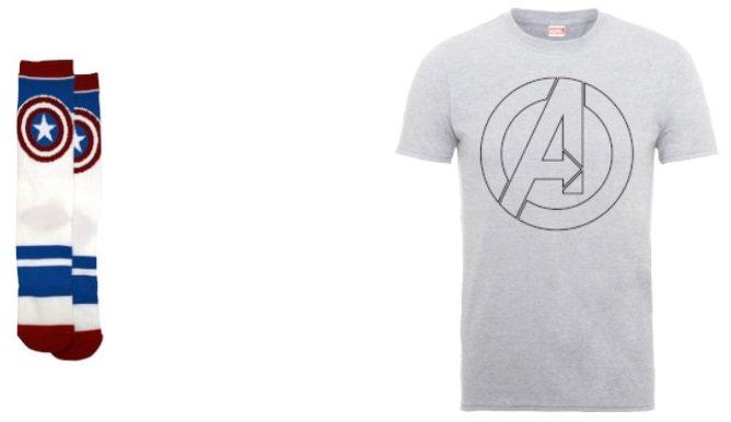 Marvel T-Shirt + 2 Paar Socken 2