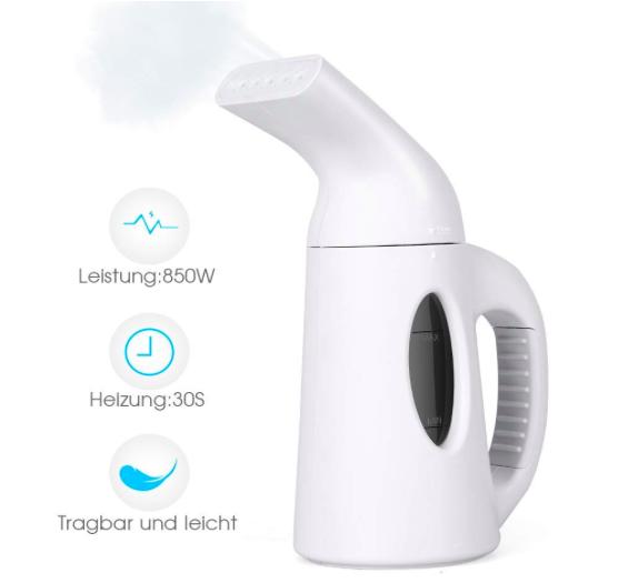 BHY Dampfglätter bzw. Mini Reisebügeleisen mit 850 Watt für 15,56€ (Prime)