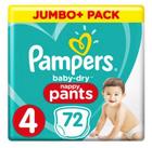 72er Pack Pampers Baby Dry Pants Größe 4 (9-15kg) für 19,24€ (statt 25€)