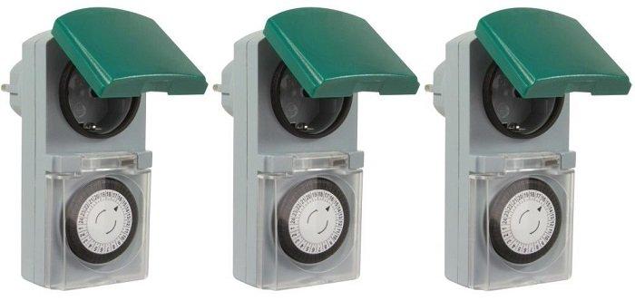 3er Pack Zeitschaltuhr IP44 16A für Außen & Innen für nur 14,99€ inkl. VSK