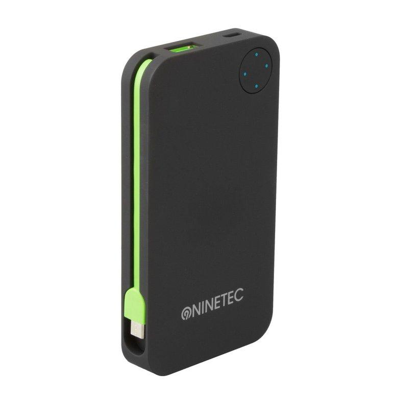Ninetec NT-608 6.000mAh Powerbank mit integriertem Micro-USB Ladekabel für 7,77€ inkl. Versand