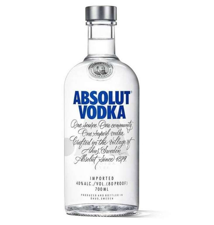Spirituosen & Likör Sale bei Top12 - z.B. 5 Flaschen Absolut Vodka (0,7l) für 40,72€