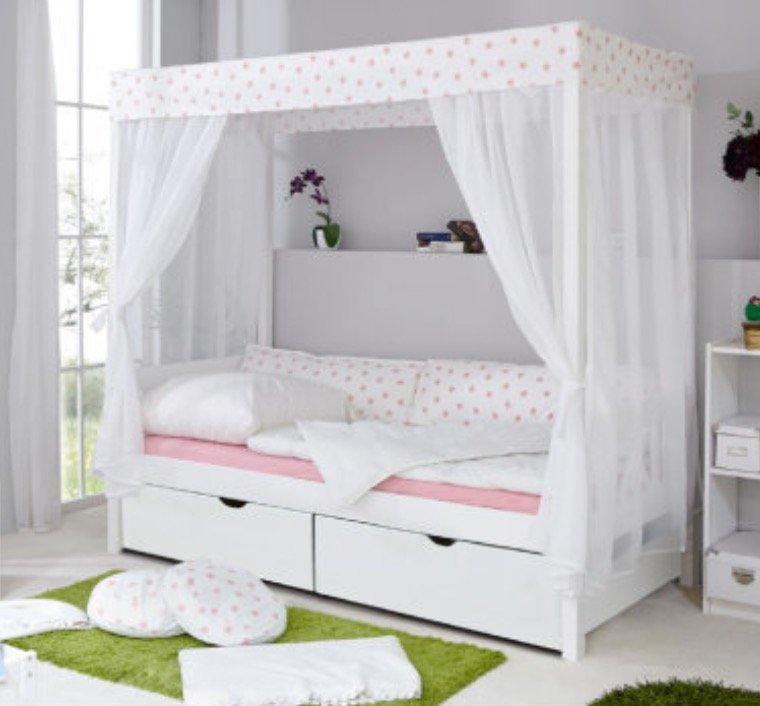 TiCaa 310 - Himmelbett mit 2 Schubladen für 409,49€ inkl. Versand (statt 450€)