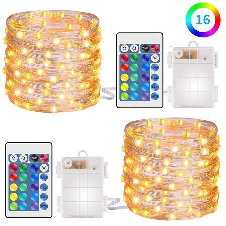 2 x 5m Minger Lichterketten mit Fernbedienung & versch. Farben für 8,99€ (Prime)