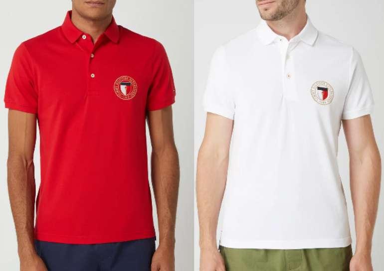 Tommy Hilfiger Slim Fit Poloshirt aus Baumwolle in Rot oder Weiß für 29,99€inkl. Versand (statt 60€)