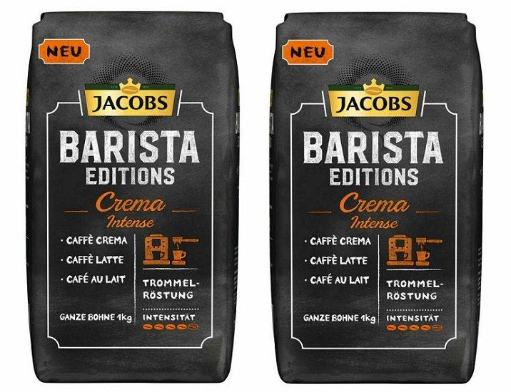 2kg Jacobs Barista Editions Crema Intense Kaffeebohnen für 18,90€ (statt 27€)
