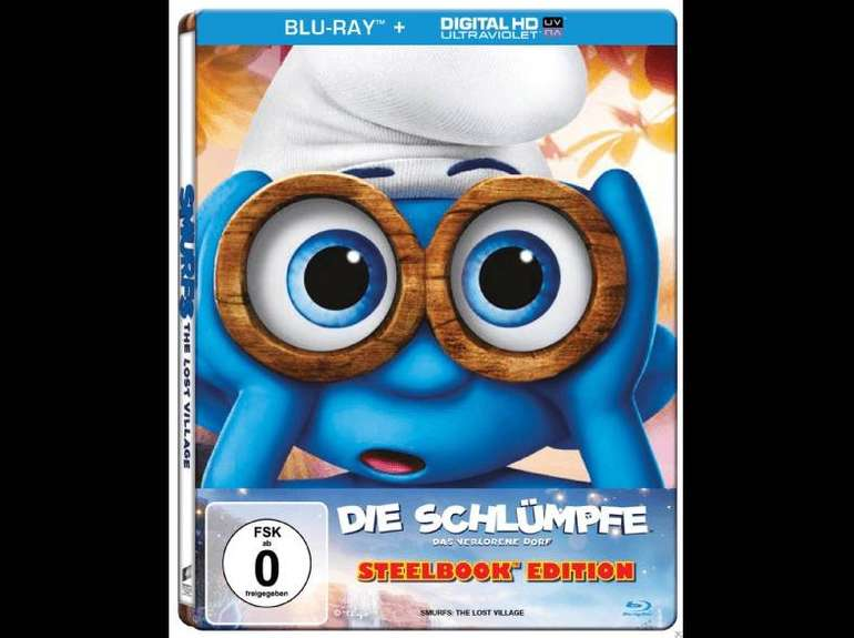 Die Schlümpfe - Das verlorene Dorf (Steel-Edition) auf Blu-ray für 4€ inkl. VSK