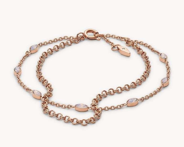 Fossil Damen Armband Navette Rosé (JF02845791) für 16,66€ inkl. Versand (statt 38€)