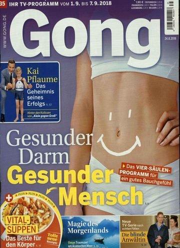 """Zeitschrift """"Gong"""" im Jahresabo für 108,40€ + 105€ Verrechnungsscheck"""