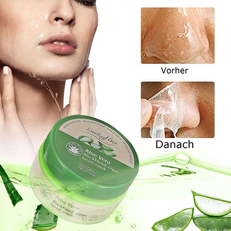 Luckyfine Aloe Vera Gesichtsmaske (100 Gramm) für 6,34€ inkl. Prime VSK