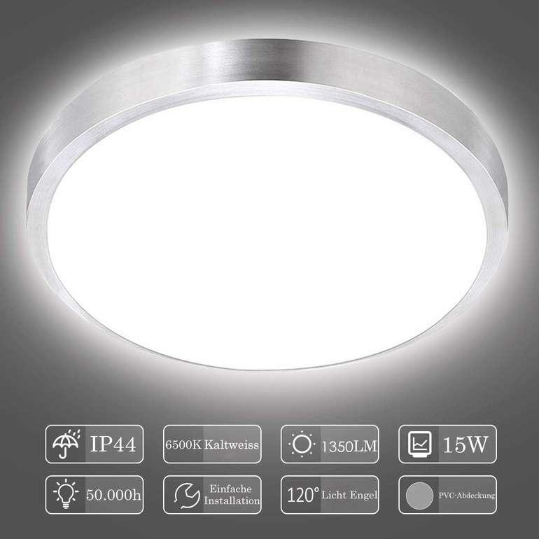 Hengda runde LED Deckenleuchte mit 15 Watt in 2 Farben für je 14,29€ inkl. VSK