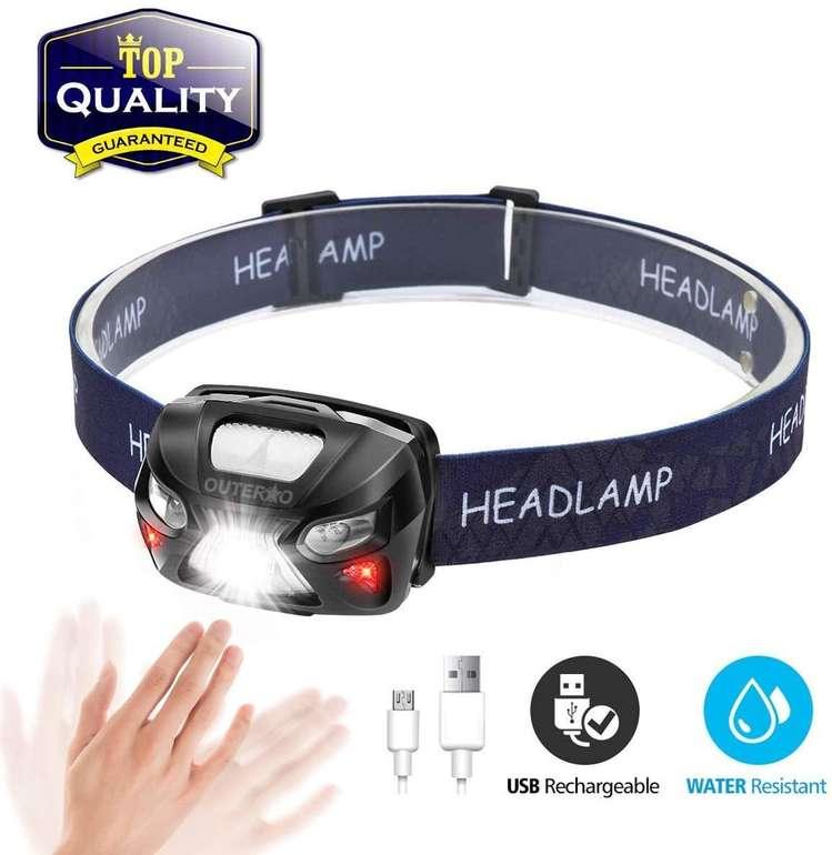 Outerdo LED Stirnlampe mit USB-Aufladung für 6,59€ inkl. Prime Versand (statt 11€)