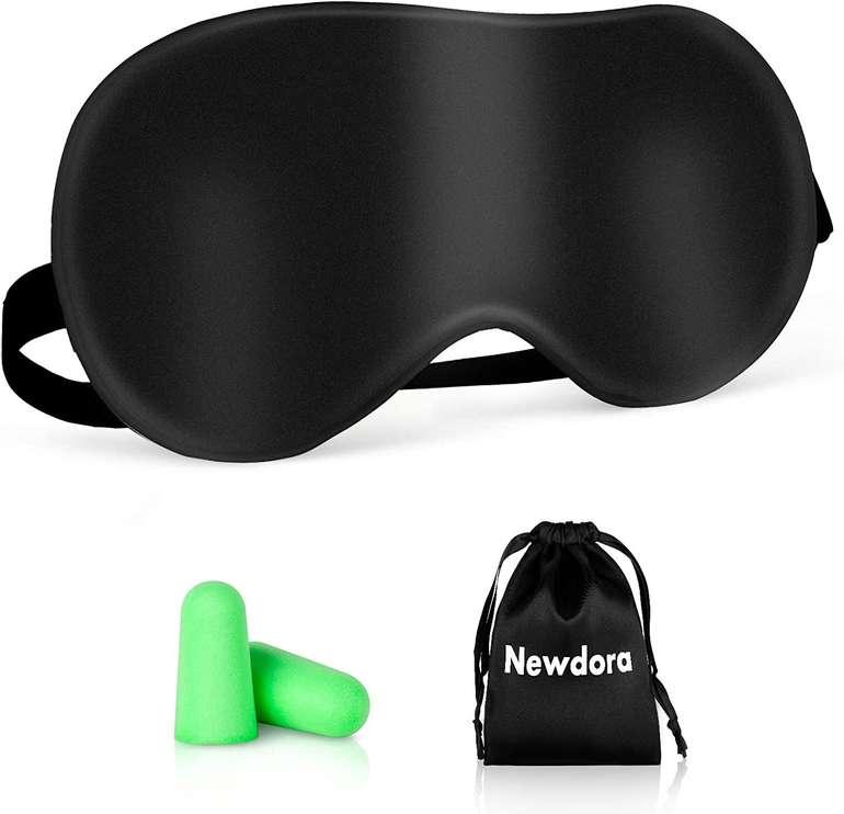 Newdora Schlafmaske inkl. Ohrstöpsel für 4,47€ inkl. Prime Versand (statt 9€)