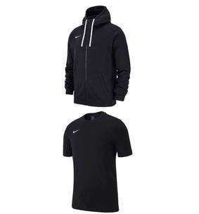 "2-tlg. Nike Freizeitset ""Team Club 19"" (Kapuzenjacke + T-Shirt) für 39,95€"