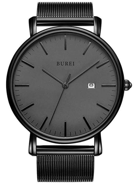 Burei Herren Uhr mit Milanaise Armband nur 16,59€ inkl. Prime Versand (statt 26€)