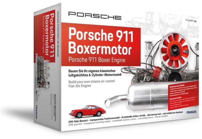 Franzis Bausatz Porsche 911 Boxermotor (290 Teile, voll funktionsfähig, Maßstab 1:4) für 110,47€ (statt 137€)