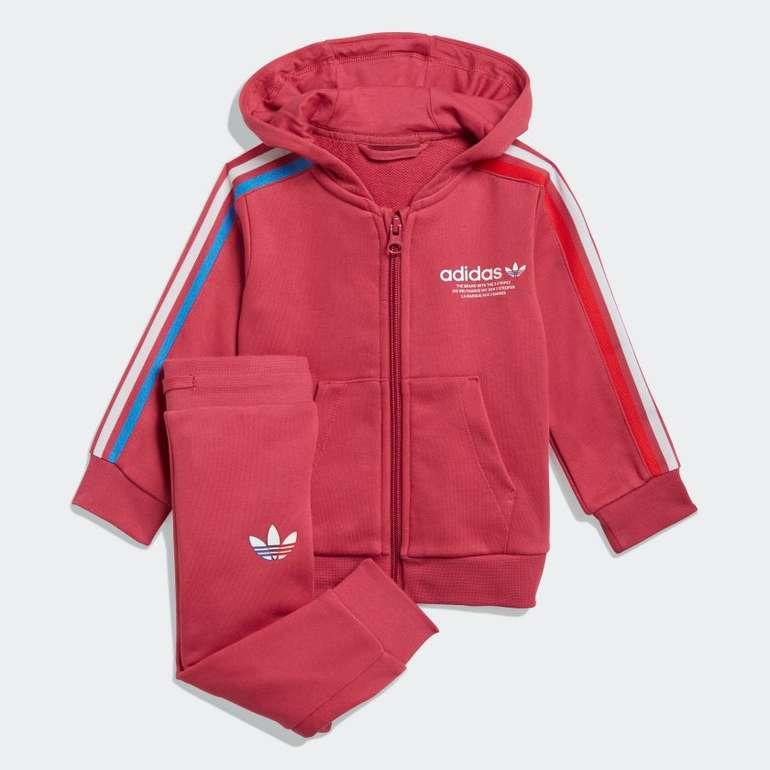 Adidas Adicolor Kids Full-Zip Hoodie-Set in Pink  für 40€ inkl. Versand (statt 50€)