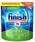 Hot! Finish All in 1 Spülmaschinentabs Sparpack mit 110 Tabs für 11,24€
