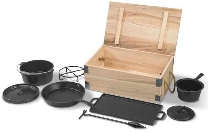 Grillmeister 7-teiliges Dutch-Oven-Set für 59,99€ inkl. Versand (statt 80€) - Newsletter Gutschein