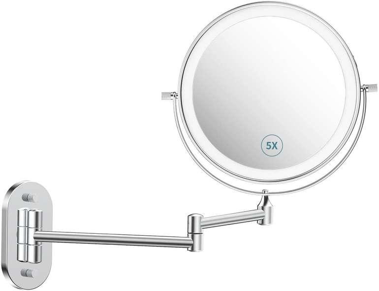Alvorog LED Kosmetikspiegel (Wandmontage, wiederaufladbar) für 17,49€ inkl. Versand