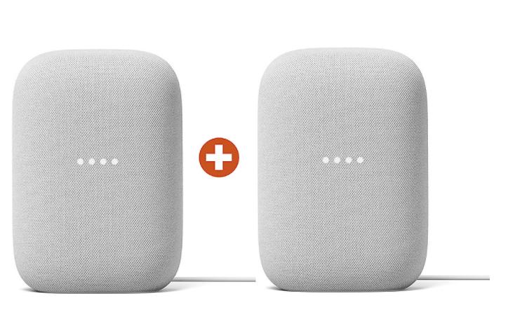 Cyberport Orange Week Angebote - z.B. Google Nest Audio WLAN-Smart Speaker Kreide 2er Set für 139,99€