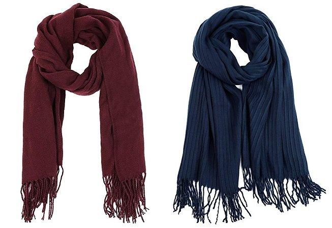 Vbiger Damen & Herren Grobstrick Winter Schal ab 3,60€ inkl. VSK (Prime)