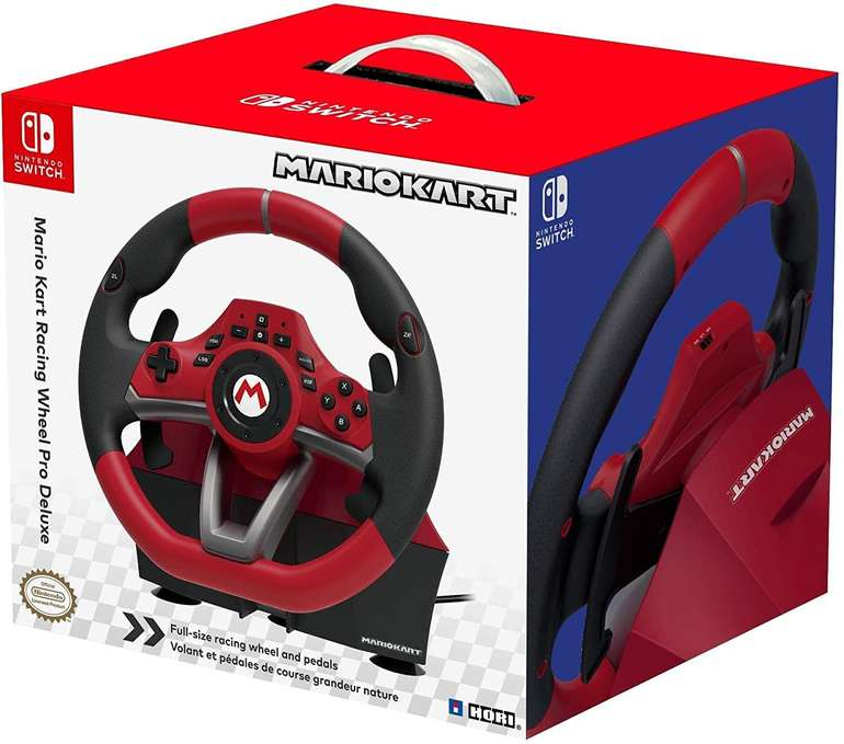 Hori Mario Kart Racing Wheel Pro Deluxe Gaming-Lenkrad inkl. Pedale (Switch) für 69,99€ (statt 82€)