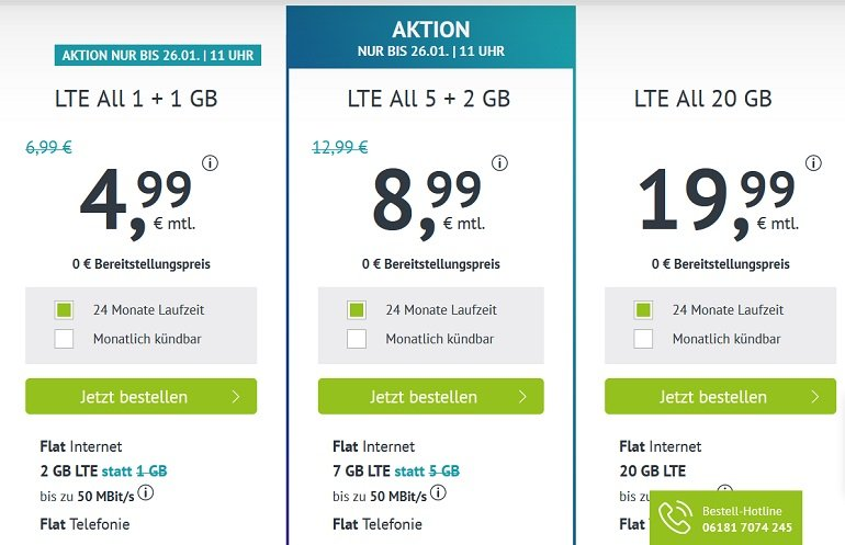 Handyvertrag.de Allnet-Flat 2GB LTE 2