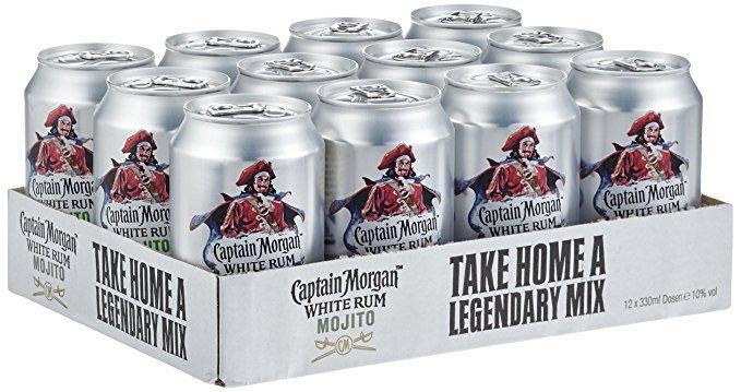 12er-Pack Captain Morgan White Rum Mojito (0,33l Dosen) für 15,48€ (Prime)