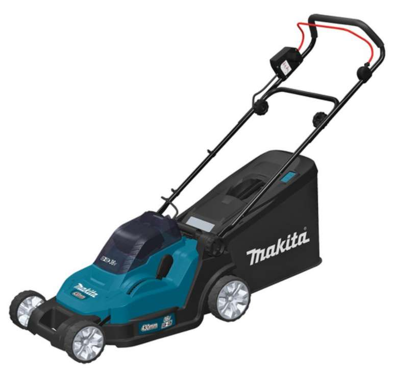 Makita DLM432PT2 Akku-Rasenmäher mit 2x Akku 5.0 Ah und Doppelladegerät für 311,24€inkl. Versand