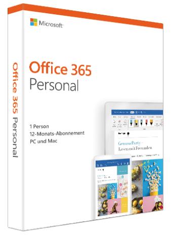 MS Office 365 Personal Abonnement (PC/MAC) 1 Jahr für 39€ (statt 55€)