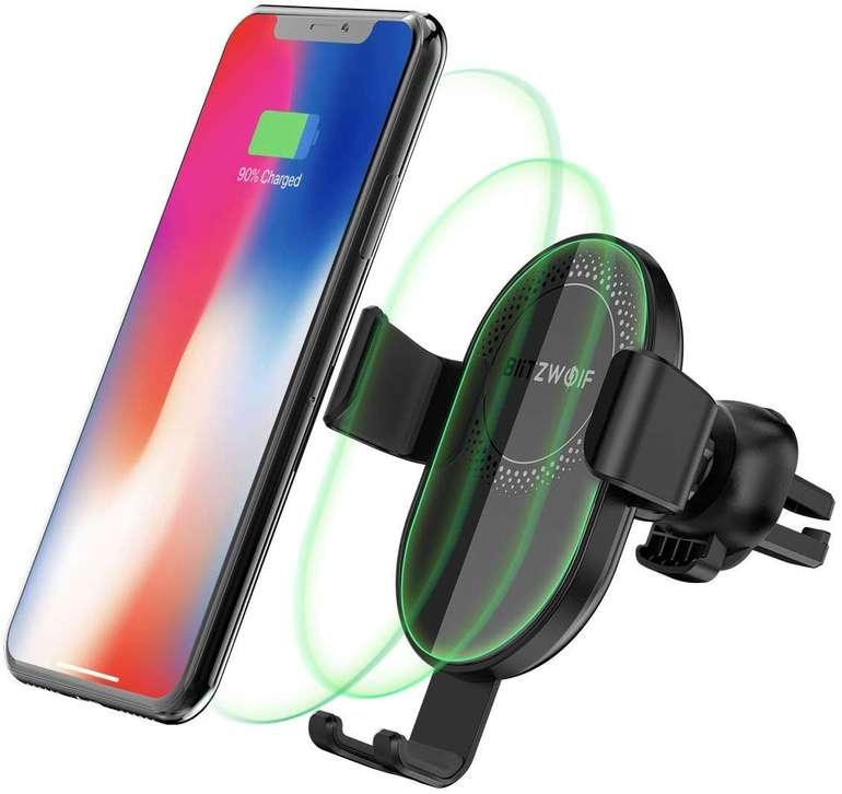 BlitzWolf Qi Wireless Charger Autohandyhalterung für 11,39€ inkl. Prime Versand