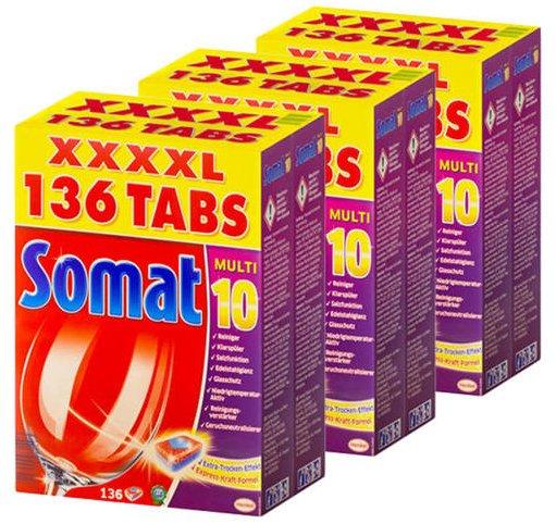 Somat Multi 10 Geschirrspültabs, 408 Stück für 52,95€ inkl. Versand