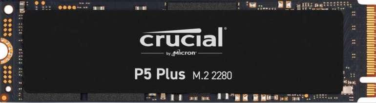 Crucial P5 Plus SSD 1TB, M.2 SSD (PCIe 4.0 x4, 3D-NAND TLC, R6600, W5000, 1GB Cache) für 149€ (statt 174€)