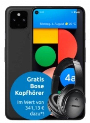 Google Pixel 4a 5G + Bose QC 35 ii Kopfhörer (+ 83,99€) inkl. MD Telekom Allnet-Flat mit 18GB LTE für 24,99€ mtl.