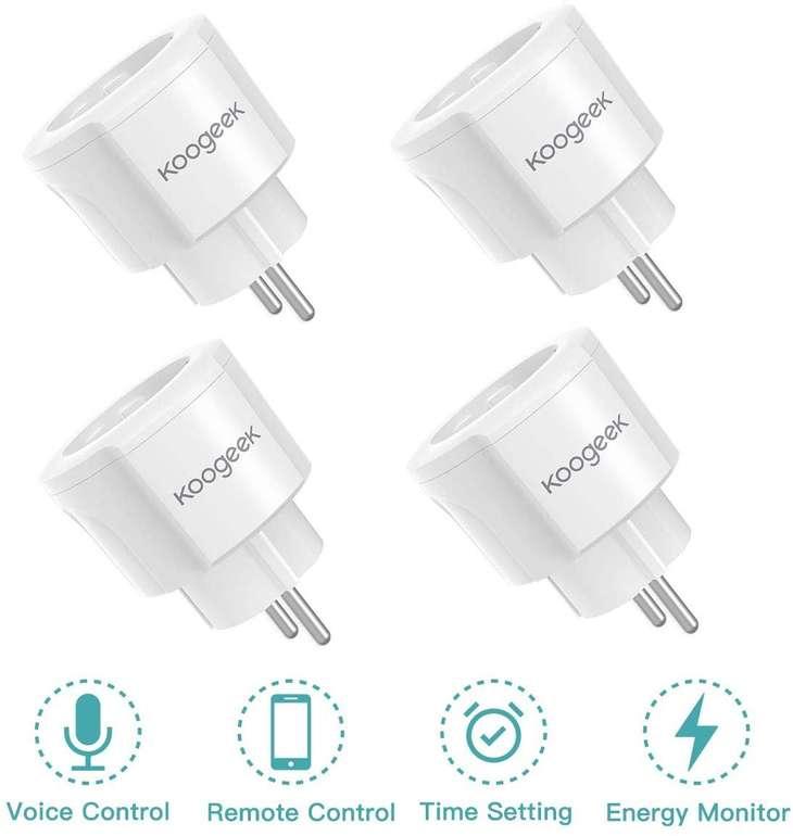 4er Pack Koogeek Smart Plug WiFi Steckdosen (Alexa/Google Assistant kompatibel) für 27,99€ (Prime)