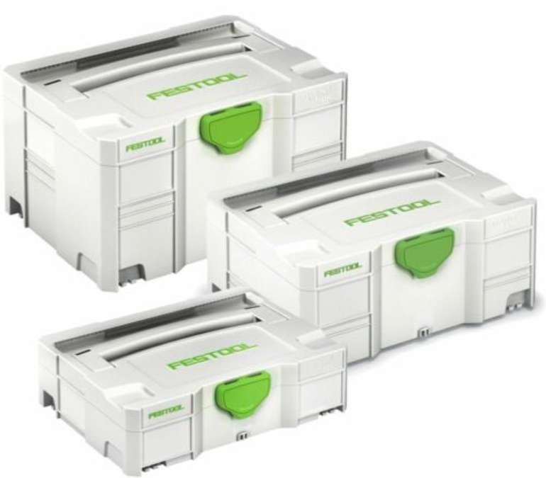 Festool Systainer-Set: Systainer T-Loc SYS1 / SYS2 / SYS3 für 83,71€ inkl. Versand (statt 114€)