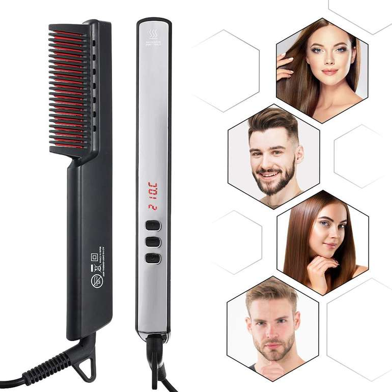 Luckyfine Haar- & Bartglätter mit LED Anzeige für 15,99€ inkl. Prime Versand (statt 27€)