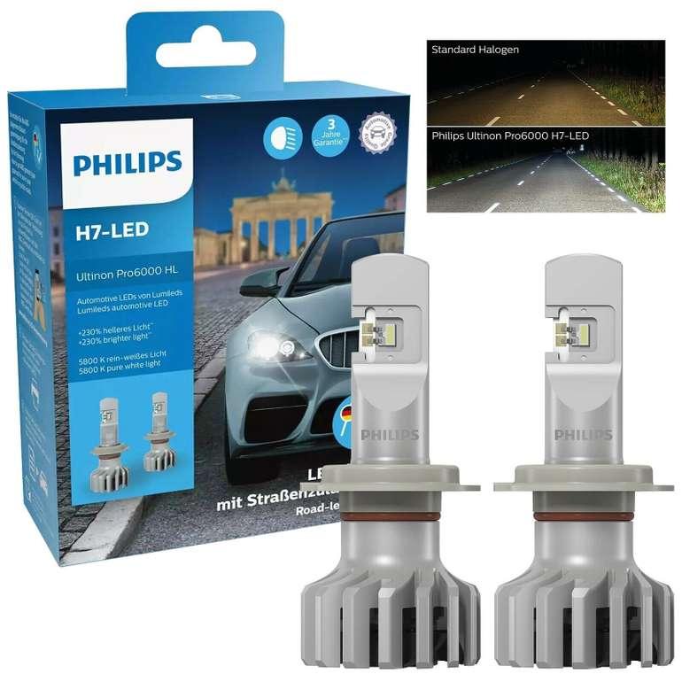 2x Philips Ultinon Pro6000 H7 Autolampen für 123,21€inkl. Versand (statt 135€)