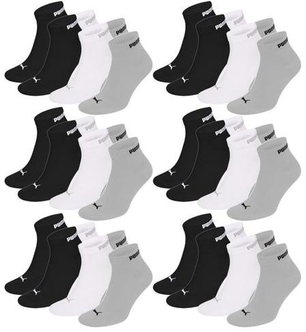 "18er-Pack Puma Unisex Quarter Socken ""Clyde"" für 29,99€ inkl. Versand"