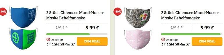 2er Pack Chiemsee Mund-Nasen-Masken