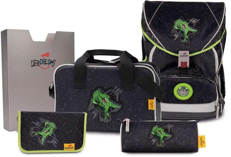 """DerDieDas 5-teiliges Schulrucksack-Set Ergoflex XL """"Rex"""" für 130,01€ inkl. Versand (statt 233€)"""