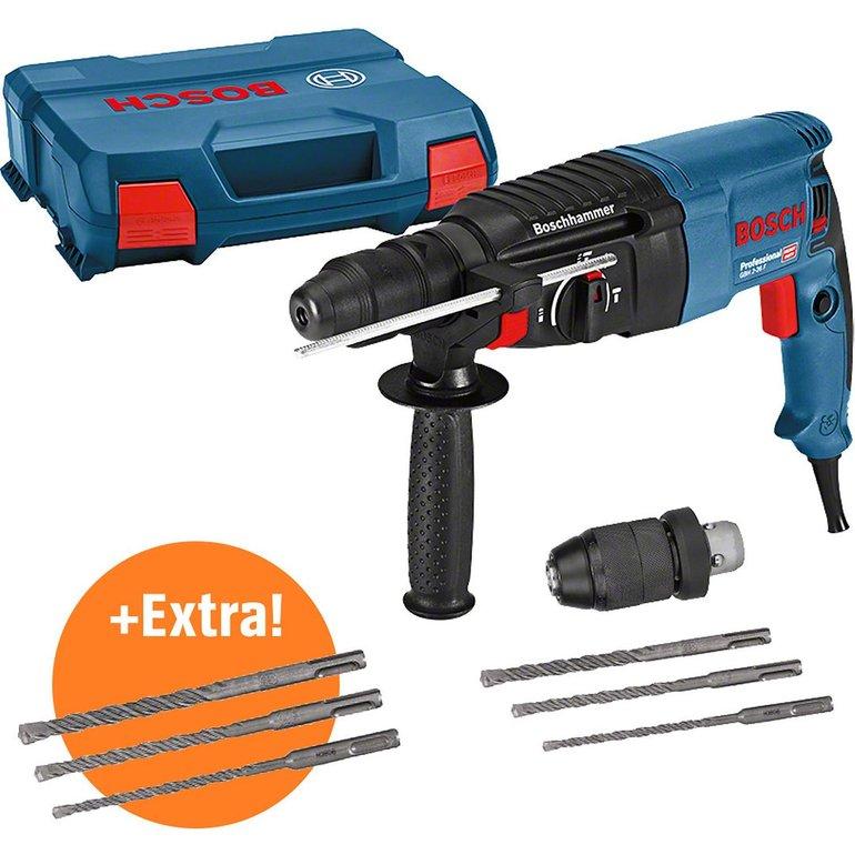 Bosch Bohrhammer GBH 2-26 F Professional mit Wechselfuttersystem + Bohrerset für 151,99€ inkl. VSK