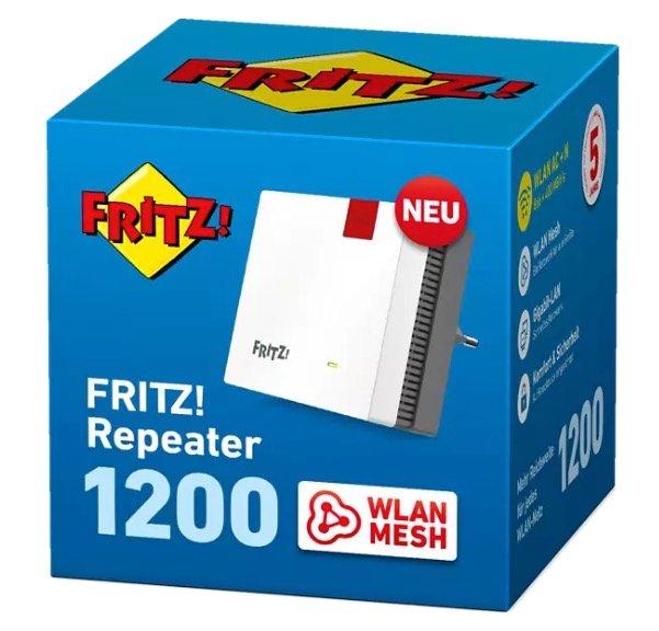 AVM Fritz!Repeater 1200 (2,4 Ghz & 5 Ghz, Mesh) für 49,99€ inkl. Versand (statt 60€)