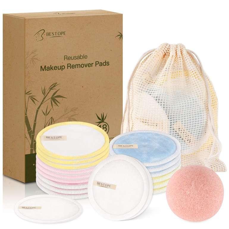 Bestope 18 waschbare Abschminkpads mit Wäschebeutel für 8,39€ inkl. Primeversand (statt 14€)
