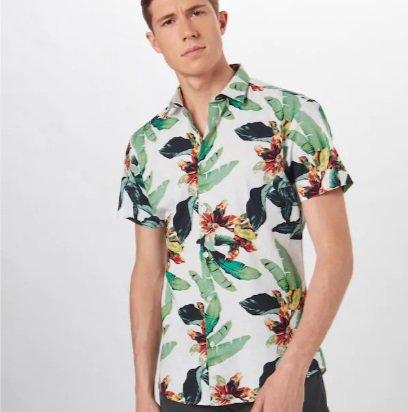 Selected Homme Heren Kurzarmhemd (L, XL) für 21,99€ inkl. VSK (statt 46€)
