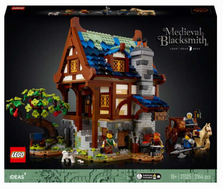 Galeria: 20€ Rabatt bei 100€ MBW für Kundenkarteninhaber - z.B Lego Ideas - Mittelalterliche Schmiede (21325) für 124,99€ inkl. Versand