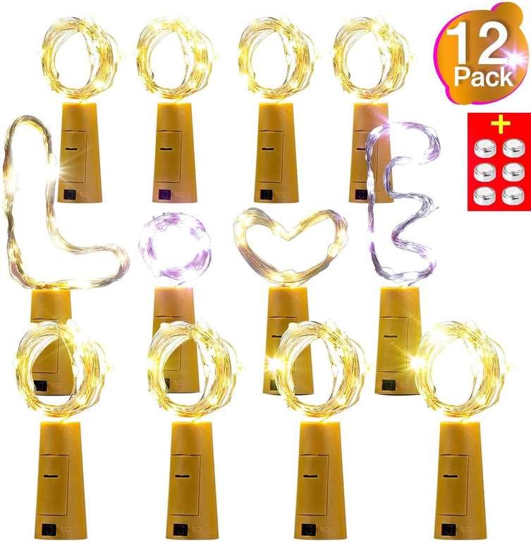 AMZJUPWM - 12er Pack Flaschenlichter für 4,98€ inkl. Prime Versand (statt 10€)